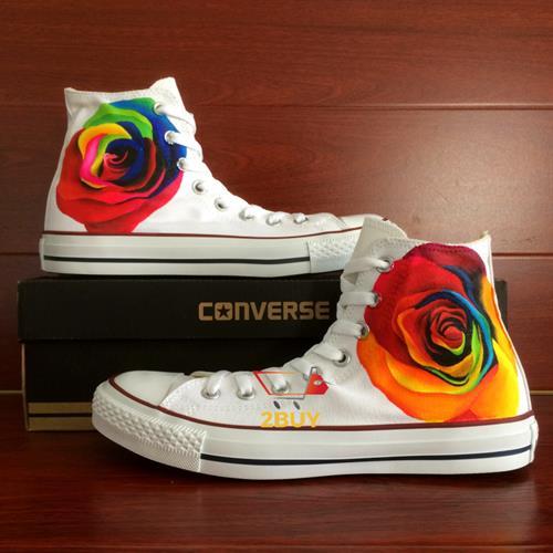 נעלי converse design all star chuck taylor יוניסקס בעיצוב בלעדי colorful rose במידות 35-49