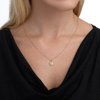 שרשרת זהב עם תליון פרח יהלומים נועה טריפ noa tripp