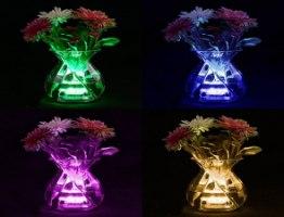 מנורת לד אלחוטית צבעונית עם שלט עמידה במים