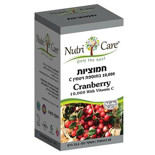 חמוציות 10,000 בתוספת ויטמין C, מכיל 60 כמוסות,  נוטרי קר