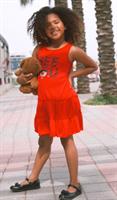 שמלת טריקו אדומה