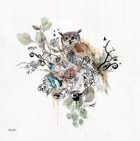 ציור של ינשוף צבעי מים ליז קפילוטו