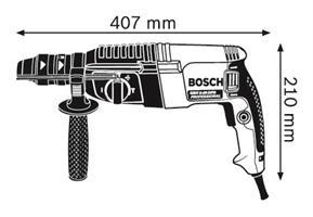 פטישון בוש BOSCH GBH 2-26 DFR+פוטר מתחלף