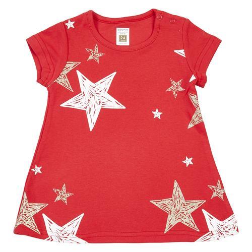 שמלה כוכבים אדום