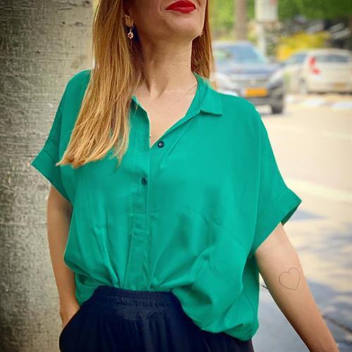 חולצת ליני סיסטרס - ירוקה