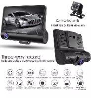 מצלמת דרך לרכב עם 3 עדשות וצג 4 אינץ'