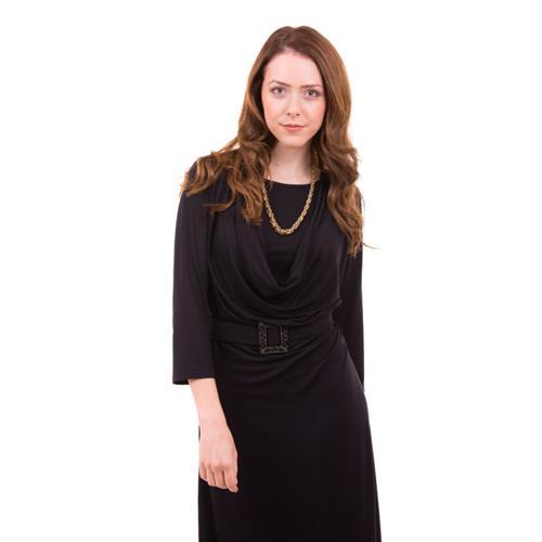 שמלת הנקה רבידה - שרוול 3/4 NursingAnywear