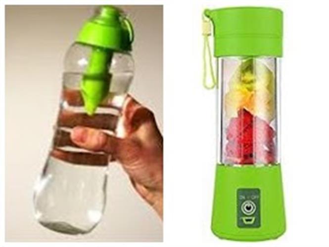 בלנדר שייקר קומפקטי נייד ונטען + בקבוק עם פילטר לסינון מים