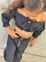 חליפת ניילון שחורה - 2-16