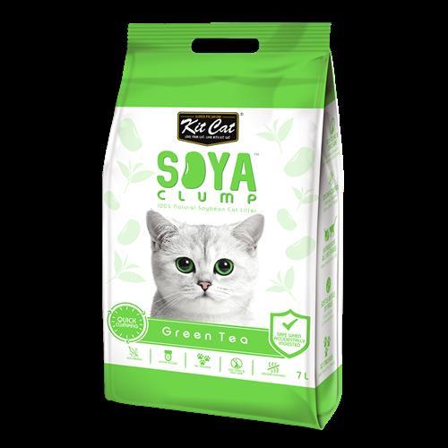חול מתגבש לחתול על בסיס סויה תה ירוק בנפח 7 ליטר