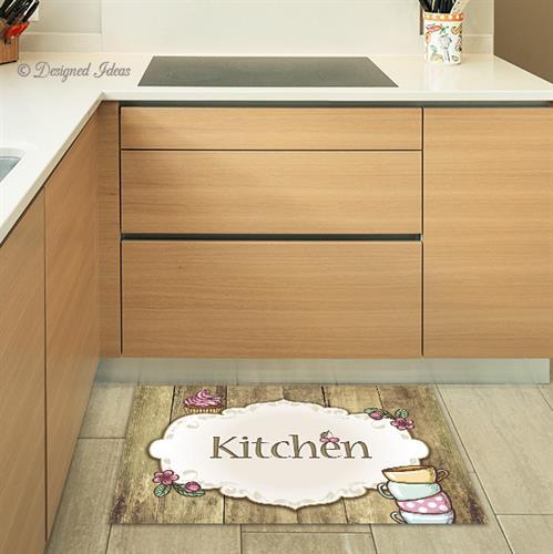 שטיח Kitchen עץ-כפרי |שטיחים | פי וי סי | PVC | שטיח למטבח | מטבח | עיצוב מטבחים | מתנות
