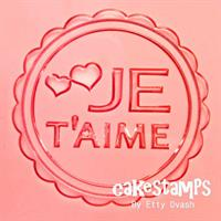 JE T'AIME EMBOSSED STAMP