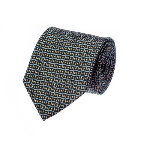 עניבה דגם ריבועים ירוק כהה