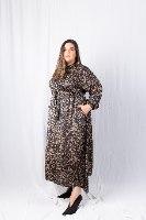 שמלת לולה סאטן מודפס