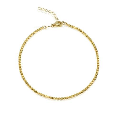 צמיד זהב - צמיד כדורי זהב לאישה או נערה - חרוזי זהב