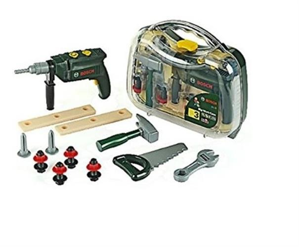 Bosch מזוודת כלים שקופה+מקדחה