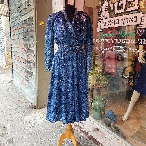 שמלת ג'ינס אייטיז בדרגת פיס מידה S