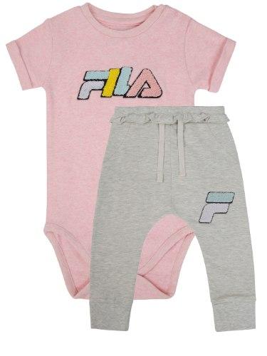 חליפת בגד גוף FILA לוגו צבעוני 6M-18M