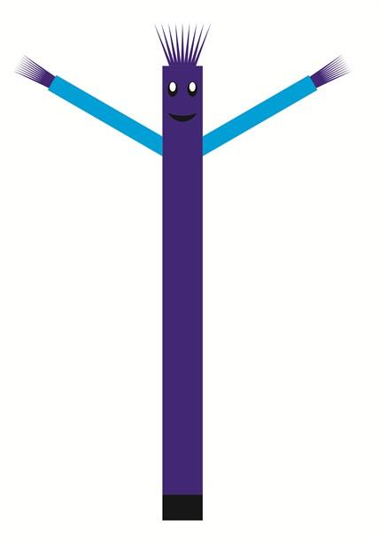 בובת דנסר רוקדת בגובה 6 מטר - צבע כחול ידיים תכלת