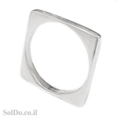 טבעת נישואין מרובעת מכסף RG6012