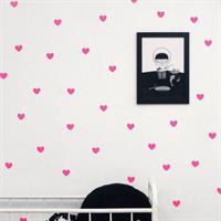 מדבקות ויניל לקיר - לבבות