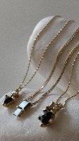 שרשרת יהלום משולש ועגול זהב 14 קראט