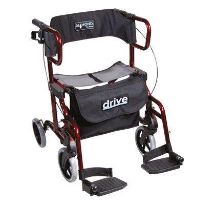 רולטור 4 גלגלים + כסא העברה כולל רגליות Drive