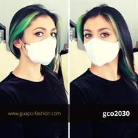 מסכת בד לבנה מכותנה face mask