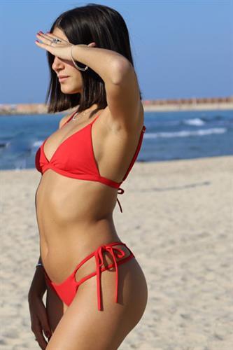 בגד ים אדום - טופ אליאנה