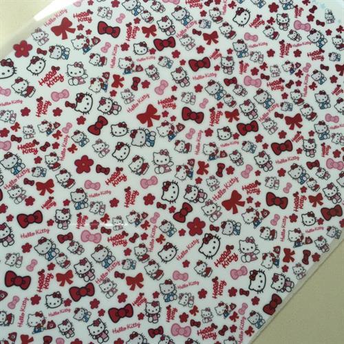 דף טרנספר - מיקס הלו קיטי - ליצירת נשיקות מרנג ומטבעות שוקולד