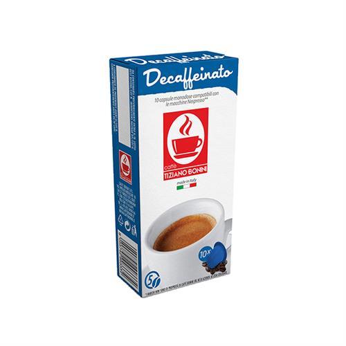 10 קפסולות קפה בוניני נטול קפאין תואם נספרסו - חוזק 5