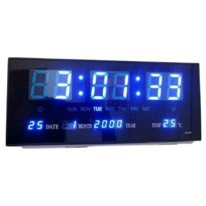 שעון קיר חשמלי לד גולף GOLF 4825BL עם תאריך וטמפרטורה