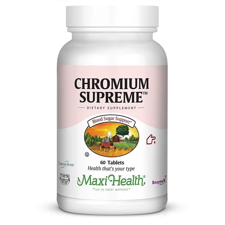 -- כרום, סלניום, אבץ ומנגן לסיוע באיזון הסוכר בדם -- מכיל 60 טבליות, Maxi Health