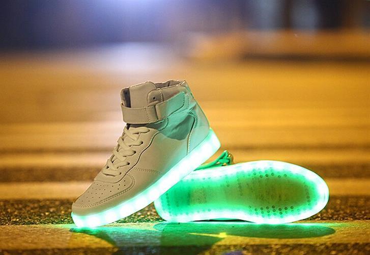 נעלי LED גבוהות 8 צבעי LED Luminous מתחלפים