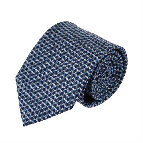 עניבה דגם מגן דוד תכלת כחול
