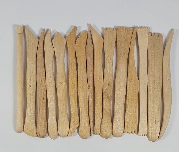 סט 15 כלי כיור ופיסול מעץ