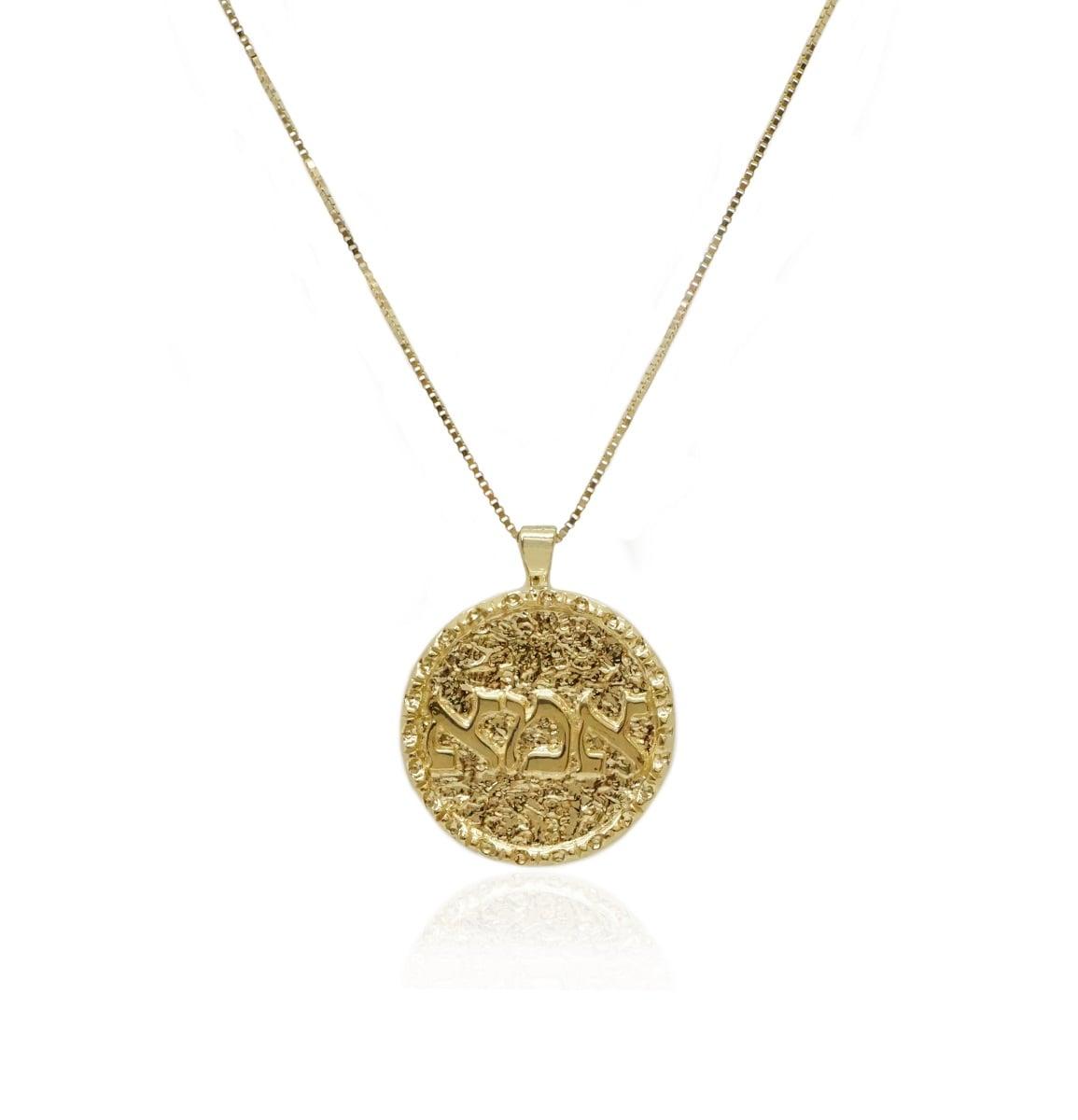 תליון אמא מזהב כתב דפוס תליון מטבע זהב