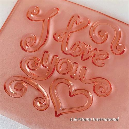 I love you- valentines day- stamp