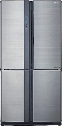 מקרר 4 דלתות מקפיא תחתון אינוורטר 615 ליטר Sharp SJ-FE87V - נירוסטה
