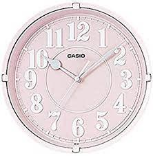 שעון קיר קסיו ורוד בהיר IQ-62-4DF