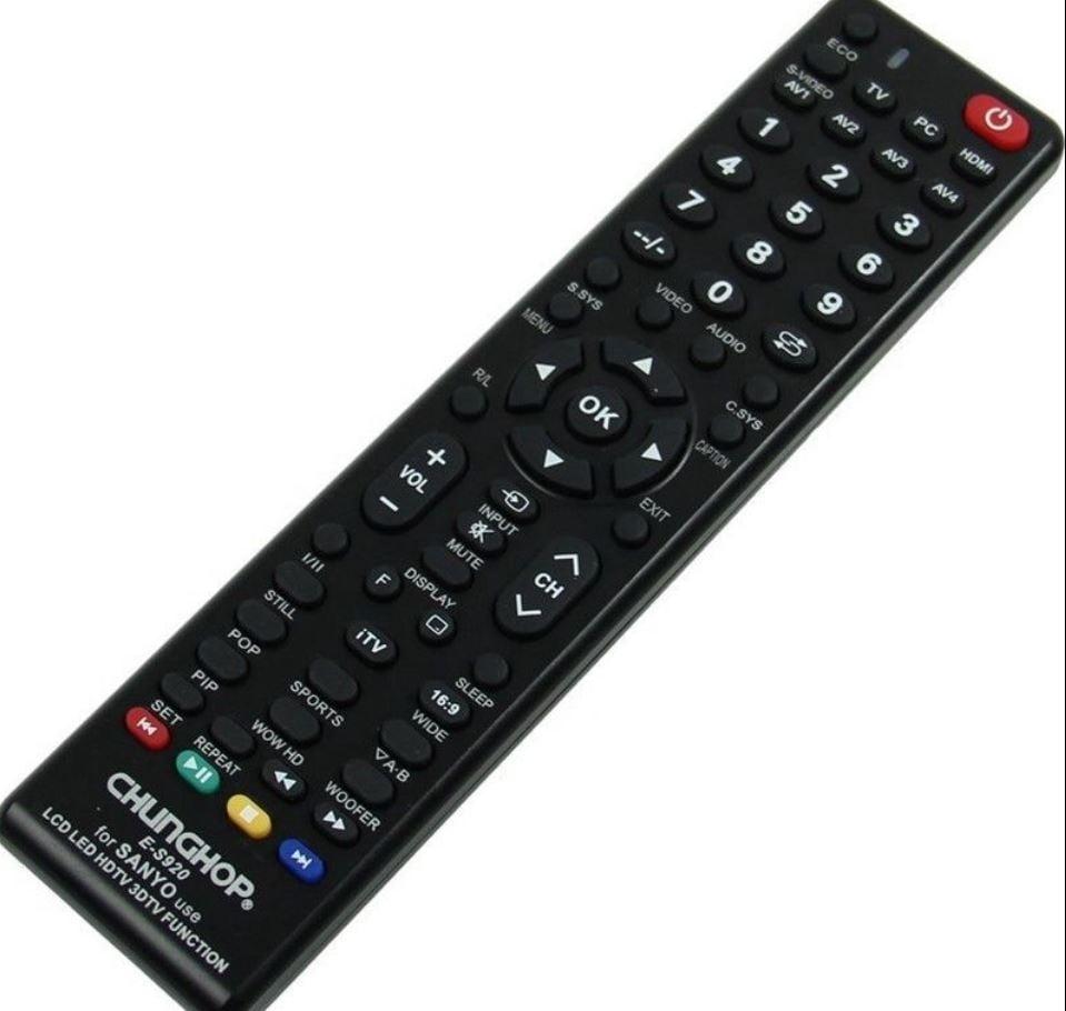 שלט רחוק אוניברסלי לטלויזיות של sanyo מתאים ל-lcd/led/smart