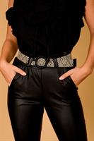 מכנס גבוה דמוי עור קייצי