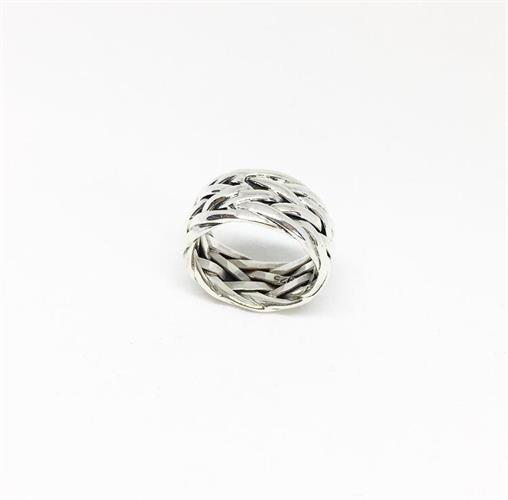 טבעת קלועה כסף
