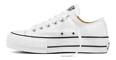 נעלי נשים אולסטאר פלטפורמה צבע לבן בד דגם 560251c