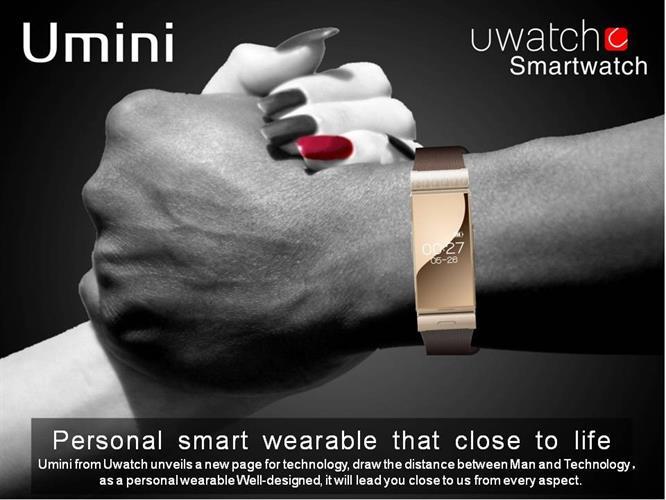 צמיד שעון חכם יוקרתי Uwatch U20 Umini + אוזניית Bluetooth מובנית