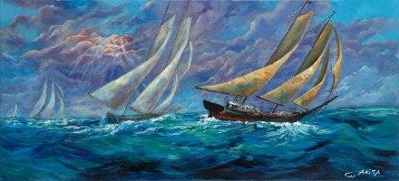 ספינות בלב ים