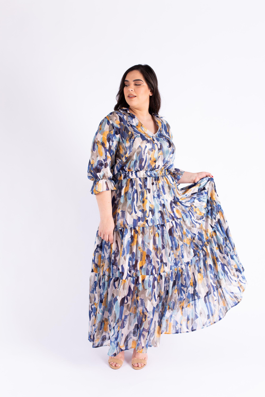 שמלת אווה כחולה