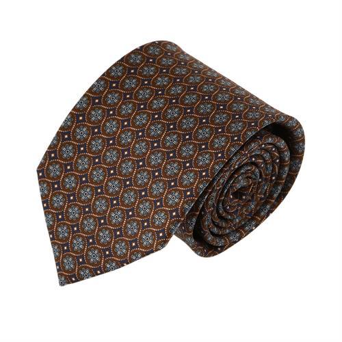 עניבה פרחים מעויינים חום