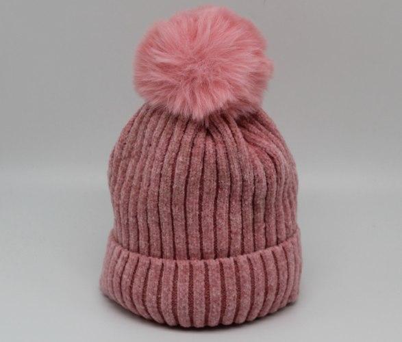 כובע נשים פרווה פנימית ורוד