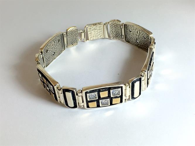 צמיד כסף נשים 925 משולב זהב MY04150069685